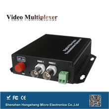 Single mode single fiber 2 channel analog video converter for cctv camera