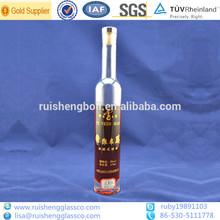 Custom clear wine glass beverage bottle