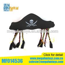 De plástico de juguete piratas de la EVA sombrero de pirata barato EVA sombrero