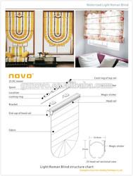 Good Quality with competitve price Motorized Roman Blinds / servo motor / roman shades curtains