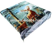 soft touch animal printed plush korean mink blankets