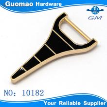 Y-shap fashion metal strap bag clip buckle