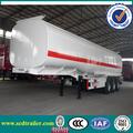 50000l ampliamente utilizado aceite semi remolque cisterna 3 ejes 50 tonelada de aceite del portador del tanque acoplado para la venta