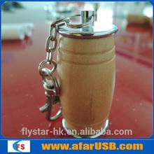 Wooden Barrel USB,can shape,bottle USB memory stick 16GB Free Logo