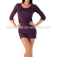 95% bamboo 5% spandex custom mid sleeves womens wholesale clothing
