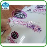 Waterproof Custom Vinyl Logo Sticker, Color Printed PVC Transparent Plastic Sticker Sheet