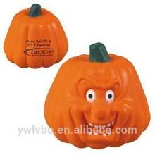 Eco-friend Polyurethane material stress toy orange pumpkin stress ball