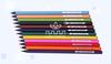black wood 12 color pencils,12 pack colored pencil(CW-003)