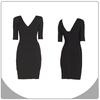 Simple design black slim fit bandage dress women formal dress
