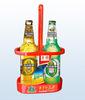2-pack advertise plastic bottle carrier for hold bottle