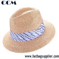 Fashion High Quality Raffia Braid Wide Brim Fedora Hat