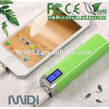 2600mah mini portable charger digital display,USB power bank