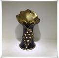 plantado de altura de oro florero de cerámica jarrón de flores de pie