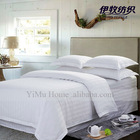 CLASSIC WHITE LUXURY HOTEL BED LINEN solid color cotton satin stripe bedding sheet set for home use and hotel