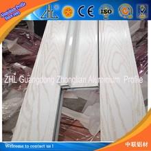 NEW Arrival ! Structural aluminum supplier , Perfect surface finished Oak wood aluminum profile aluminium window frame