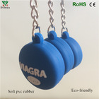 Wholesale pvc silicone key chain tag holder in lower price