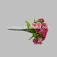 7 ramas artificiales de la boda rosa arreglo de flores