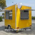 2014 yiying yy-fs250 newstyle!!! Móvil de comida al aire libre diseño del quiosco/móvil kiosco de alimentos restauración del remolque