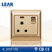 Kninght series ultra-slim steel plate electrical socket