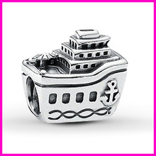 fashion 925 sterling silver steamship italian link bracelet charms
