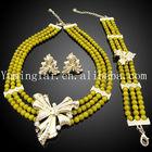 fashion wedding jewelry set , african jewelry sets beaded ,african beads wholesale fashionable jewerly