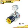 low pressure 316L carbon dioxide pressure regulator for gas cylinder with pressure gauge