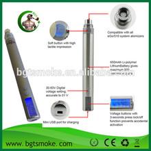 high quality electronic cigarettes 3-6v voltage variable ego-v battery vape
