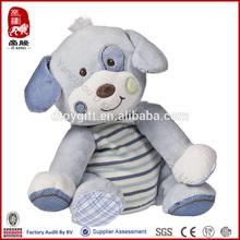 China ICTI Sedex WCA SA800 audit factory wholesale plush baby toy velvet soft baby toy puppy