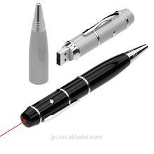 pen shape metal USB flash drive with laser,promotion pen USB