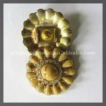 Women Hot Sale Vintage Cheap Round Metal Shoe Ornaments