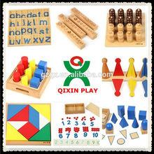 La mayoría de los niños populares montessori de materiales para la venta/montessori material didáctico/educación juguete de montessori/qx-b4801