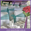 SH056A cheap fancy organza wedding chair sashes