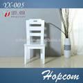 Venda quente em madeira cadeira / cadeira de jantar em branco