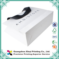 Customized made paper bags for clothing store/shopping bag