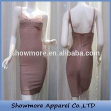 Style NO. W117 pink color sweetheart sheath spaghetti strap v-neck open back wedding dress