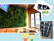 vertical garden system restaurant living wall artificial plant wall