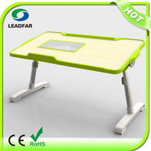 LYB-400F Hot Sale!!! MDF Pannel + Leg Material Aluminum Laptop Table