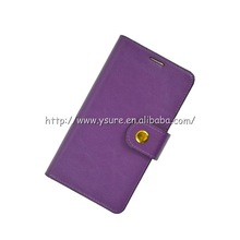 deluxe purple leather case with stand function for Samsung Galaxy Note 3