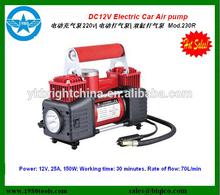 wholesale Portable air compressor car tire inflator pump dc 220v mini car air compressor