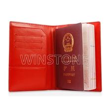 Full grain leather passport holder wallet