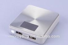 5000~13000mah Square portable mobile power bank