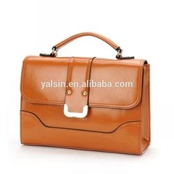 bar6361 brown cow leather women fashion handbag office briefcase bag