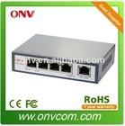 4 Port POE Switch 802.3af with 1 uplink port 100M 48V