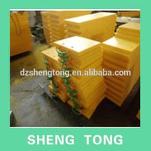 Uv resisting uhmwpe crane outrigger /outrigger mat