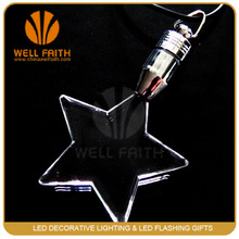 Fairy light novelty flashing dummy star necklace