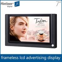 Flintstone 7'' pos floor display stands,pos led advertising display