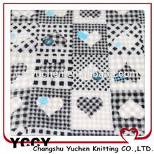 heart print microfiber fabric