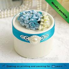 2014 popular elegant customized wedding gift box/wedding box with flower