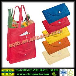 recycle non woven custom folding non woven shopping bag