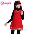 outono meninas simples e bonito crianças bordados vestido blusa maunfactured na china